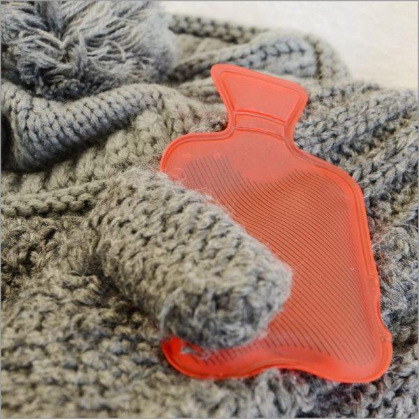 Handwärmer Taschenwärmer Wärmflasche rot