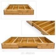 Besteckkasten verstellbar 31- 48,5 cm aus Bambus