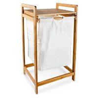 Wäschesammler Bambus LINEA mit Ablage