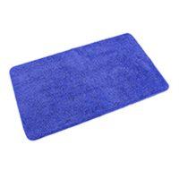 Badteppich Microfaser eckig – Blau
