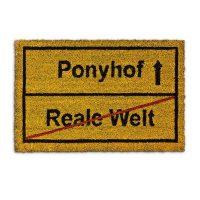 Fussmatte 'Ponyhof' Kokos 40×60 cm