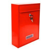Briefkasten Design 35 cm Farbauswahl – Rot