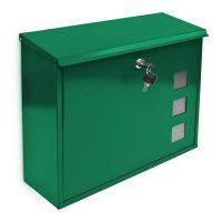 Briefkasten Metall 3 Fenster Farbauswahl – Grün