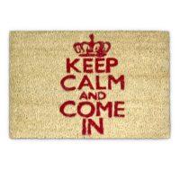 Fußmatte Keep Calm Kokos Weiß 40×60 cm