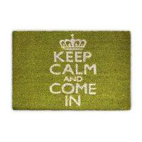 Fussmatte Keep Calm Kokos grün 40×60 cm