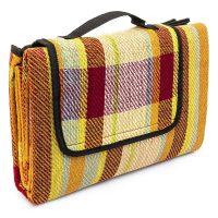 Picknickdecke verschiedene Muster – rot-bunt