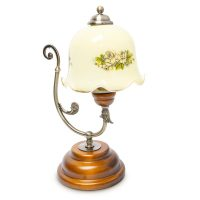 Tischlampe Jugendstil florales Muster