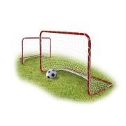 Fußballtor 2er Set für Kinder rot