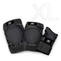 Protektoren Set schwarz 6-teilig – XL
