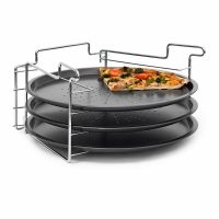 Pizzabäcker Set mit 3 Backblechen
