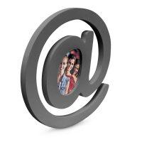 Bilderrahmen E-Mail Holz – Grau