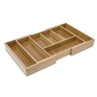 Bambus Besteckkasten verstellbar XL