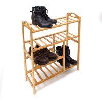 Bambus Schuhregal mit Stiefelfach – 4
