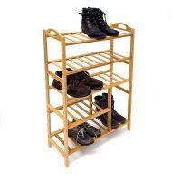 Bambus Schuhregal mit Stiefelfach – 5