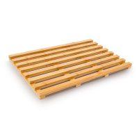 Holzvorleger aus Bambus Badvorleger