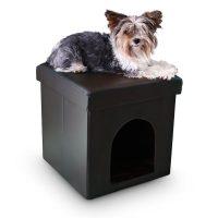 Hundebox Sitzhocker – Schwarz