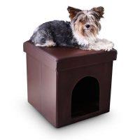 Hundebox Sitzhocker – Braun