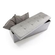 Faltbare Sitzbank Leinen - Farbe: Grau