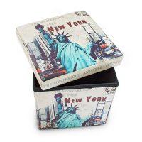Sitzhocker mit Stauraum Trendmotiv – New York