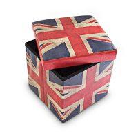 Sitzhocker mit Stauraum Trendmotiv – UK