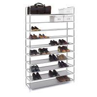 Schuhregal für 50 Paar Schuhe – Grau