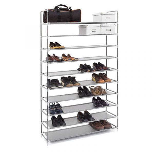 Schuhregal für 50 Paar Schuhe - Farbe: Grau