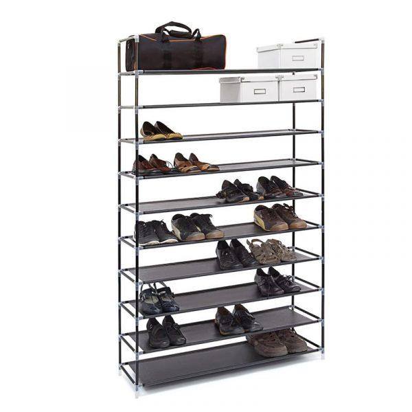 Schuhregal für 50 Paar Schuhe - Farbe: Schwarz