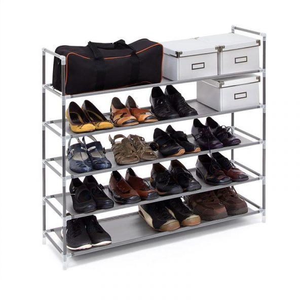 Schuhregal für 25 Paar Schuhe - Farbe: Grau