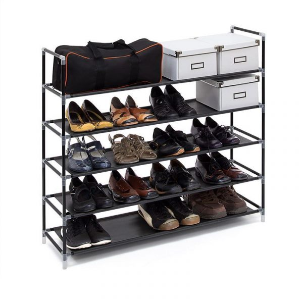 Schuhregal für 25 Paar Schuhe - Farbe: Schwarz