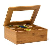 Teebox Bambus lackiert 6 und 8 Fächer – 6