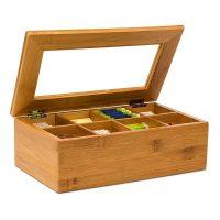 Teebox Bambus lackiert 6 und 8 Fächer – 8