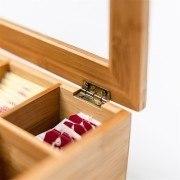 Teebox Bambus lackiert 6 und 8 Fächer - Fächer: 8