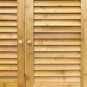 Waschbeckenunterschrank LAMELL Bambus