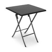 Gartentisch klappbar BASTIAN – Schwarz – Quadratisch Gartenmöbel