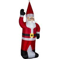 Aufblasbarer XXL Weihnachtsmann 280 cm hoch Nikolaus Lichterkette