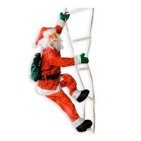XXL Weihnachtsmann auf Leuchtleiter 240cm Nikolaus Lichterkette