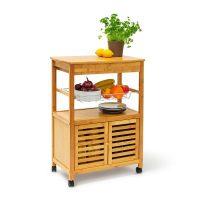 Küchenrollwagen JAMES XL mit Schrankfach Küchenwagen