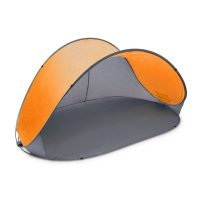 Pop-Up Strandmuschel – Anthrazit-orange