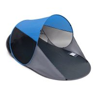 Pop-Up Strandmuschel – Anthrazit-blau