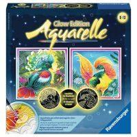 Ravensburger: Aquarelle Bunte Vögel Glow Edition