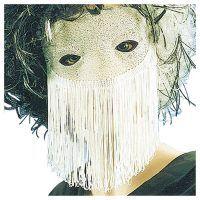 Apollo: Domino Lurex silber mit Fransen