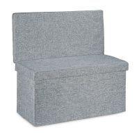 Faltbarer Sitzhocker mit Lehne L – Grau