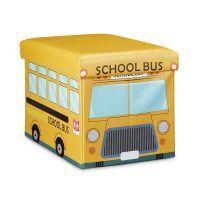 Faltbare Spielzeugkiste mit Stauraum – School Bus