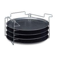 Pizzablech 4er Set mit Ständer