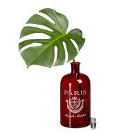 Dekoflasche Paris rot mit Aufdruck – M – 30cm