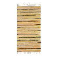 Flickenteppich mehrfarbig 70x140cm – Gelb