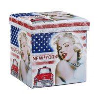 Sitzhocker mit Stauraum Trendmotiv – New York – Merilyn