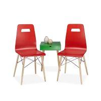 Design Stuhl ARVID 2er Set – Rot