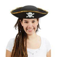 Piratenhut schwarz