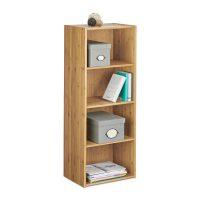 Bücherregal Bambus – 4 Etagen